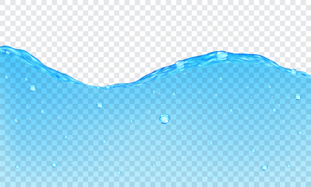 Illustration pour Background of transparent water with bubbles - image libre de droit