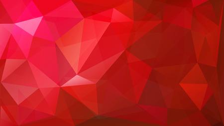 Ilustración de Abstract low poly background of triangles in red colors - Imagen libre de derechos