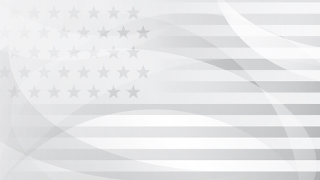 Illustration pour Independence day abstract background with elements of the american flag in gray colors. - image libre de droit