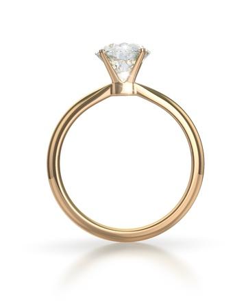 Photo pour Diamond ring isolated on white background - image libre de droit