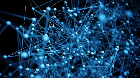 Foto de Abstract network molecule background - 3d visualisation - Imagen libre de derechos