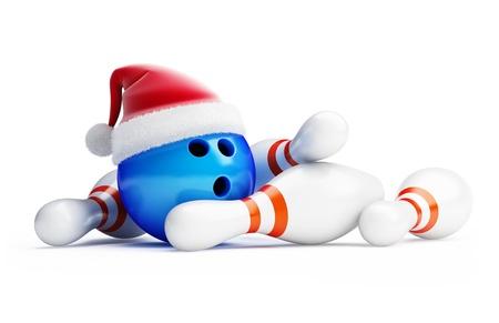 bowling new year santa hat