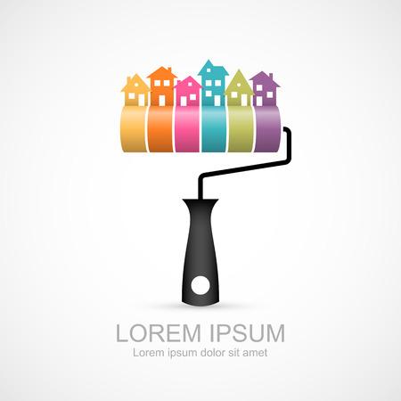 Ilustración de House renovation icon - Imagen libre de derechos