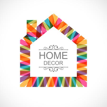 Ilustración de Creative house decoration icon - Imagen libre de derechos