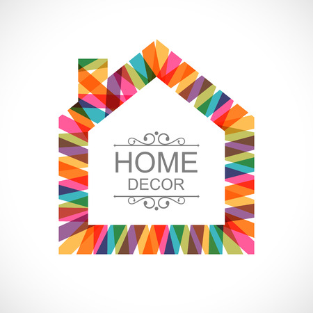 Creative house decoration icon