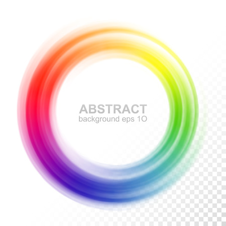 Illustration pour Abstract blurry color wheel - image libre de droit
