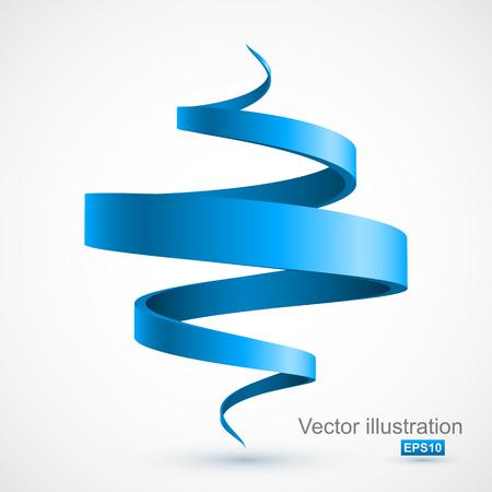 Illustration pour Blue spiral 3D - image libre de droit