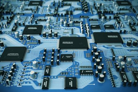 Photo pour Shot of integrated circuit board. - image libre de droit