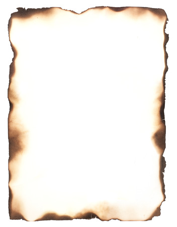 Foto de Burned edges isolated on white  Use as a frame or composite with any sheet of paper to give it the appearance of burned edges  - Imagen libre de derechos