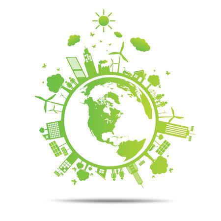 world Green ecology City environmentally friendly .
