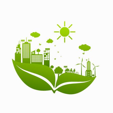 Illustration pour World Green ECO City - image libre de droit
