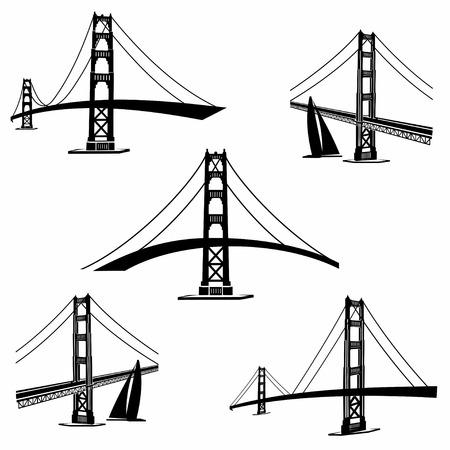 Illustration pour Golden Gate Bridge San Francisco - image libre de droit