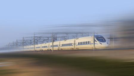 Foto per moving train - Immagine Royalty Free
