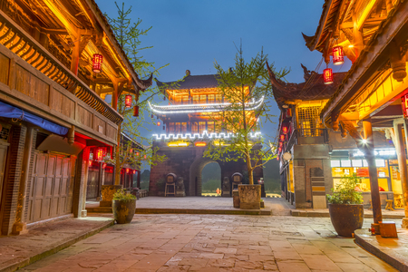 Photo for Huanglong Valley, Sichuan, China - Royalty Free Image
