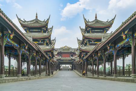 Foto de Ancient town of Huanglong valley in Chengdu - Imagen libre de derechos