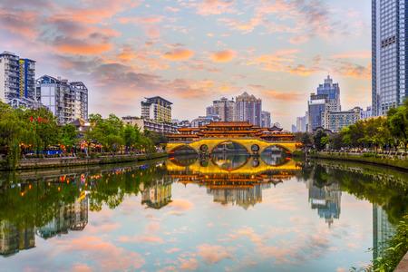 Photo pour Chengdu Jinjiang scenery - image libre de droit