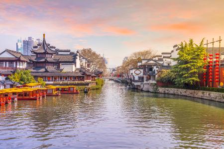 Photo pour Nanjing the Qinhuai River - image libre de droit