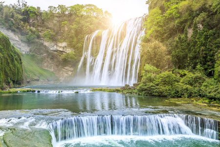 Photo for waterfall scenery - Royalty Free Image