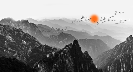 Photo for Mount Huangshan clouds and mist - Royalty Free Image
