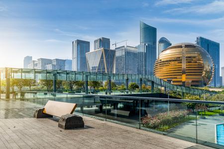 Foto de Hangzhou Qianjiang New City - Imagen libre de derechos