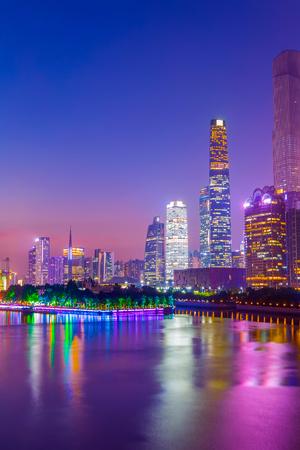 Photo pour Guangzhou night view - image libre de droit