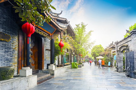 Photo for Chengdu Kuan Alley and Zhai Alley - Royalty Free Image