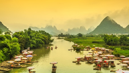 Photo for The landscape of the Lijiang River in Guilin - Royalty Free Image