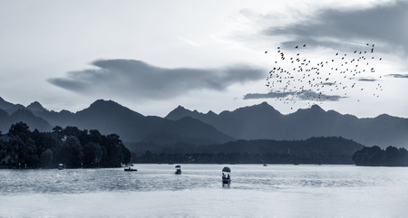 Photo for Landscape of Chinese ink and wash - Royalty Free Image