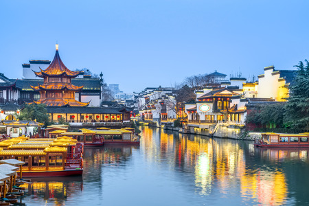 Photo for Landscape view of an ancient town in Nanjing, China - Royalty Free Image