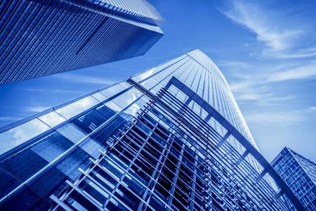Foto de Low angle view of urban buildings in the city - Imagen libre de derechos