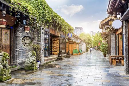 Foto de Chengdu Kuan Alley and Zhai Alley - Imagen libre de derechos