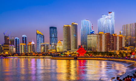 Photo for Night view of Qingdao - Royalty Free Image