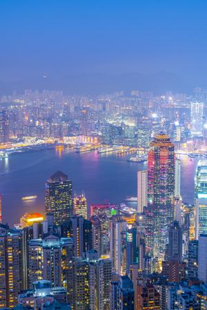 Foto de Hong Kong night view - Imagen libre de derechos