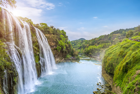 Photo pour Guizhou Huangguoshu Waterfall - image libre de droit