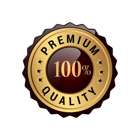 Illustration pour Premium quality 100% labels. - image libre de droit