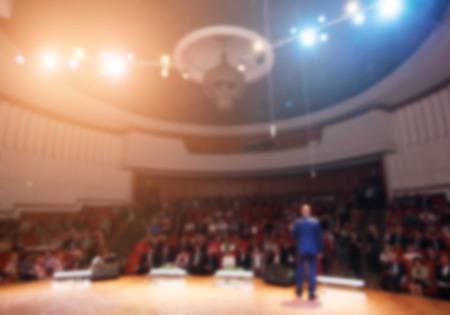 Photo pour businessman giving a presentation in a conferencemeeting - image libre de droit