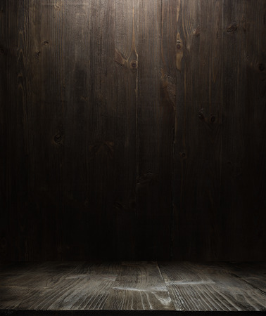 Photo for dark wooden background texture. Wood shelf grunge industrial interior - Royalty Free Image