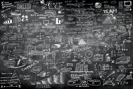Photo pour business idea concept on wall blackboard blackground - image libre de droit