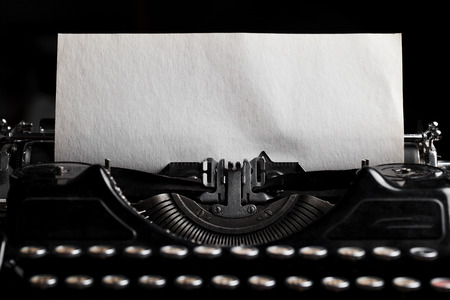 Photo pour typewriter with paper sheet. Space for your text - image libre de droit