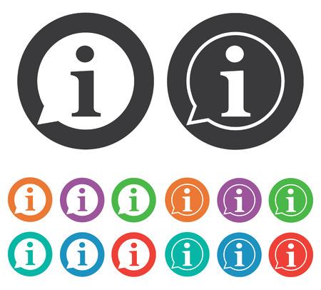 Illustration pour Information icon - image libre de droit