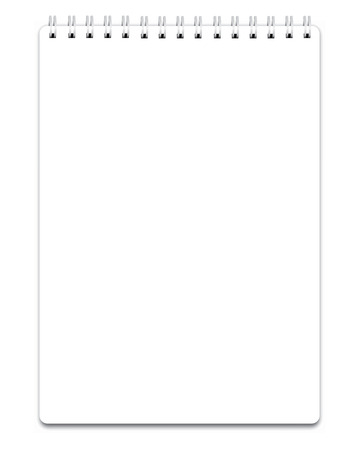 Illustration for Blank realistic spiral notepad notebook isolated on white vector - Royalty Free Image