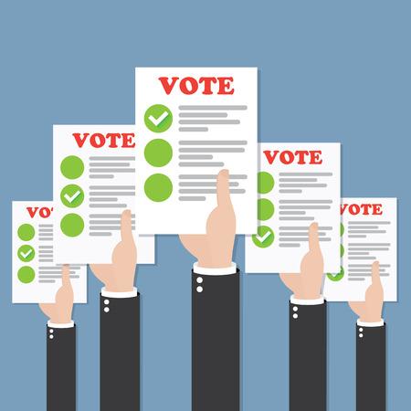 Illustration pour Vote - image libre de droit