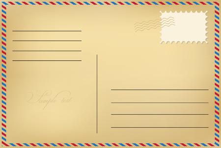 Illustration pour Postcard - image libre de droit