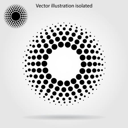 Illustrazione per Halftone dots circle - Immagini Royalty Free