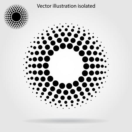 Ilustración de Halftone dots circle - Imagen libre de derechos