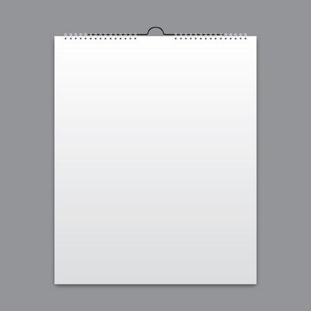 Illustration pour Blank calendar, card design - image libre de droit
