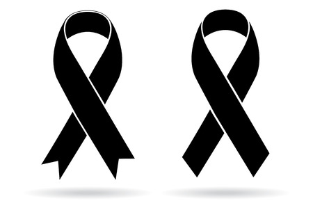 Illustration pour Mourning and melanoma support symbol - image libre de droit