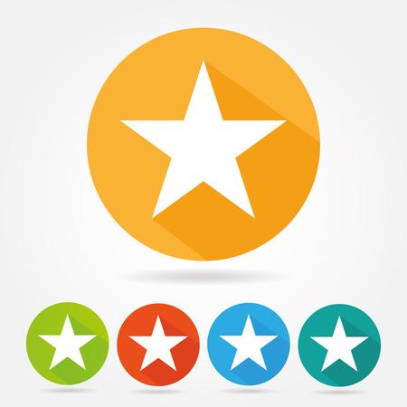 Illustration pour Star icon flat design - image libre de droit