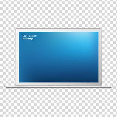 Illustration pour Modern laptop isolated on white background - Vector illustration - image libre de droit