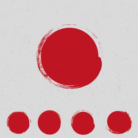 Illustration pour Big red grunge circle - image libre de droit